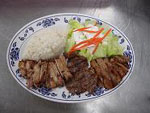 Chicken, Beef and Pork Teriyaki Combo